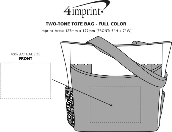 Imprint Area of Two-Tone Tote Bag - Full Colour