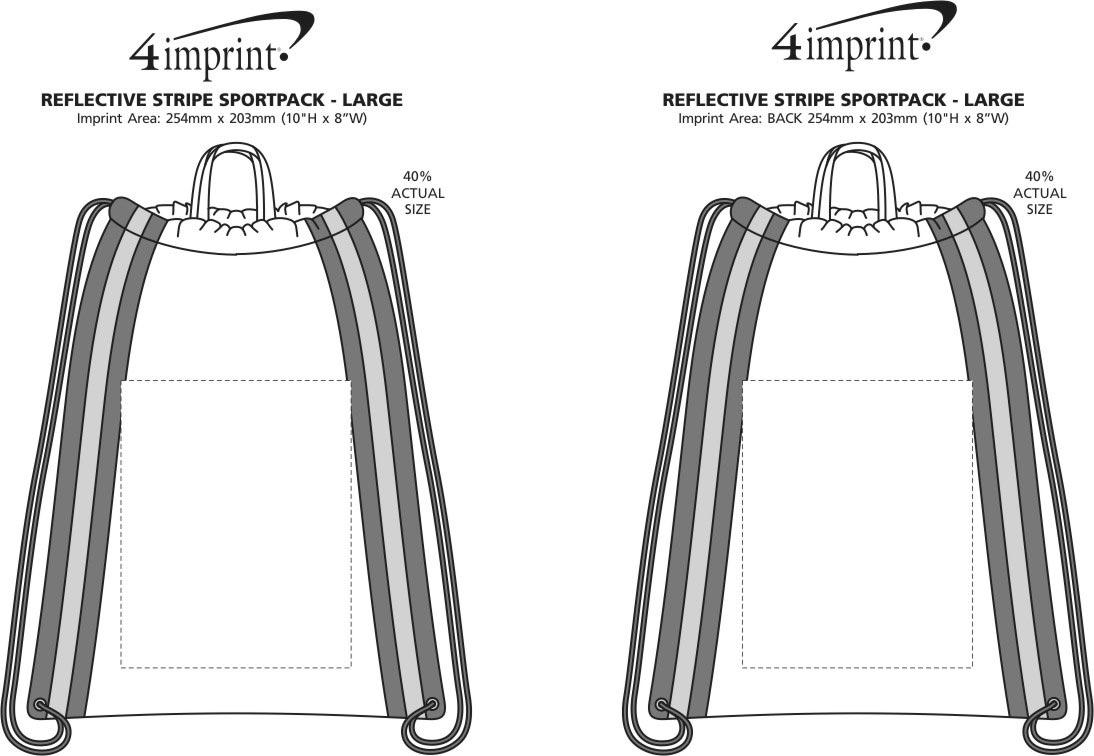 Imprint Area of Reflective Stripe Sportpack - Large