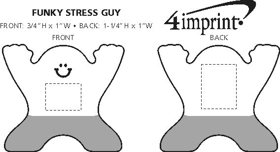 Imprint Area of Spunky Stress Guy