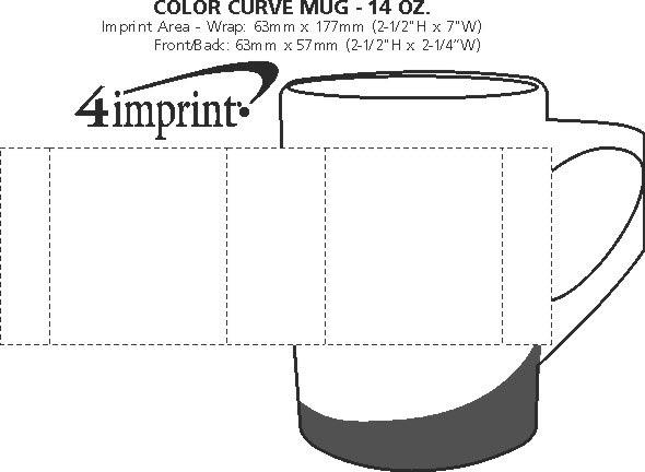 Imprint Area of Colour Curve Mug - 14 oz.