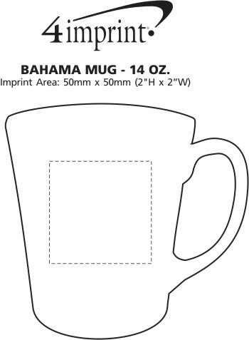 Imprint Area of Bahama Mug - 14 oz.