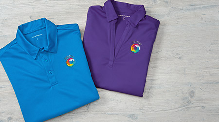 Promotional business apparel products that include polos