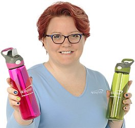 Kelly holding the Contigo Addison Sport Bottle